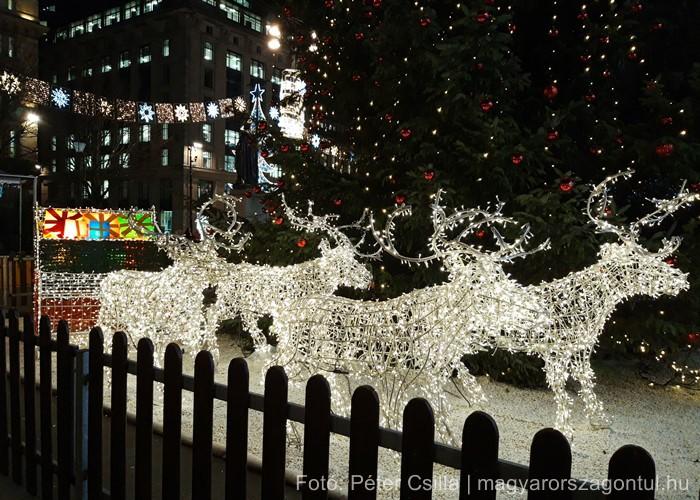 Karácsony Glasgow rénszarvasok