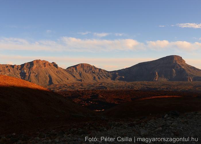 Teide vulkán naplemente