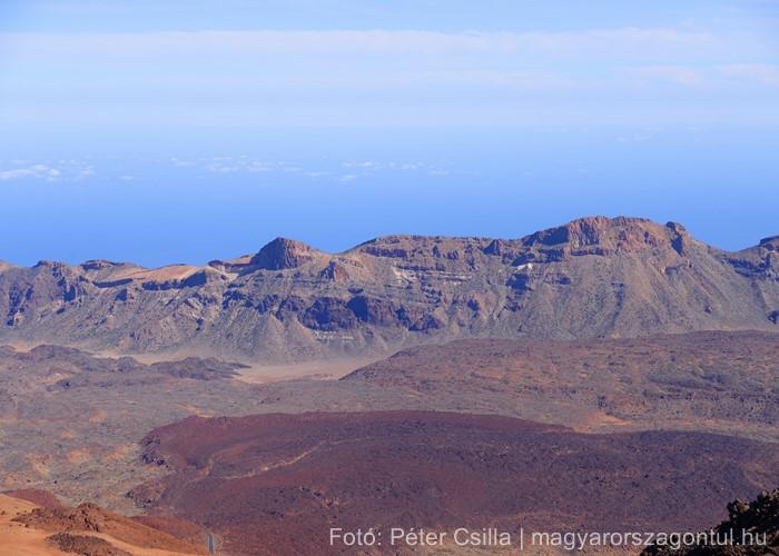 Tenerife hegyek vulkán