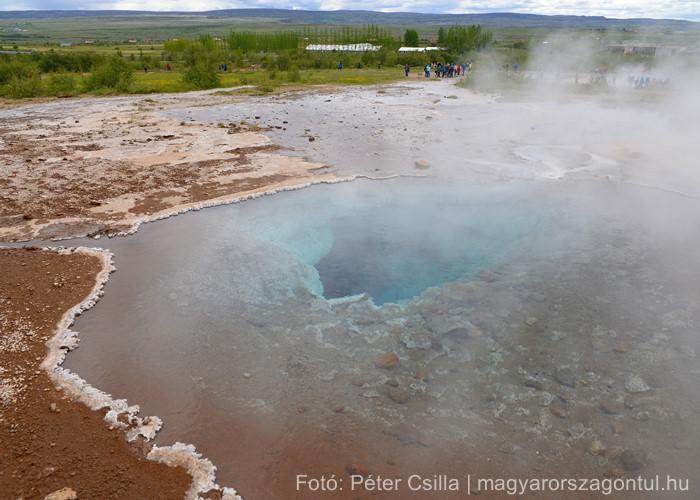 Gejzír hőforrás Izland