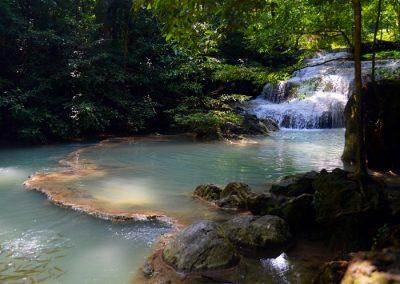 Erawan vízesés Thaiföld Kanchanaburi 2