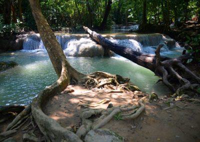 Erawan vízesés Thaiföld Kanchanaburi