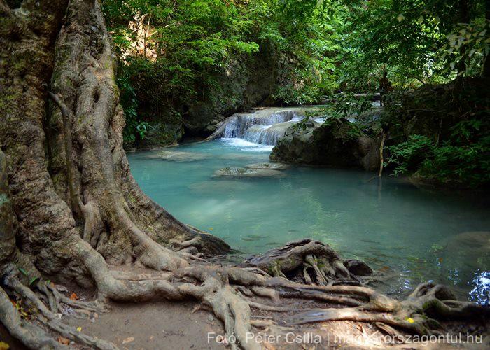Kanchanaburi Erawan vízesés 2