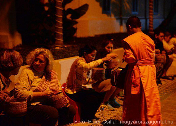 Buddhista szerzetes Laosz Luang Prabang