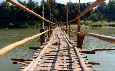 Te végig mernél sétálni ezen a bambuszhídon?
