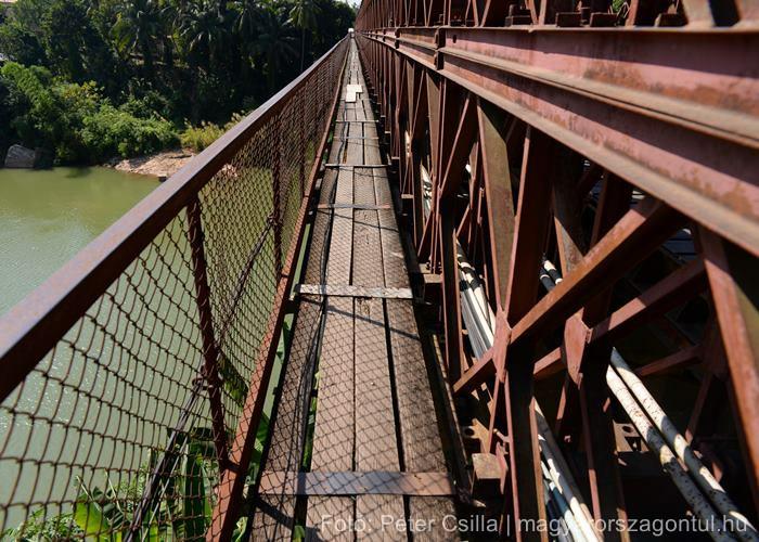 Laosz Luang Prabang régi francia híd