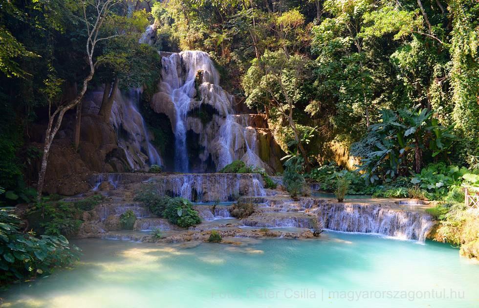 Kuang Si vízesés Laosz