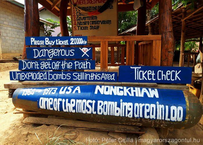 Laosz Nong Khiaw bombák