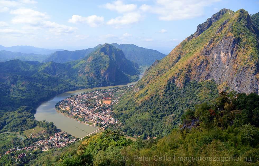 Laosz Nong Khiaw kilátó index