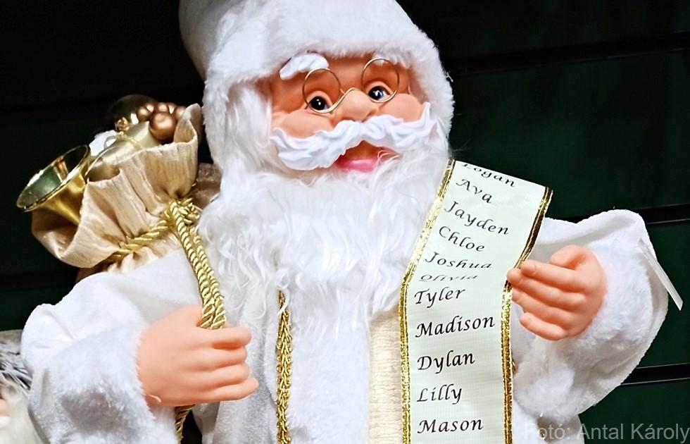 Karácsonyi falu Mikulás Télapó