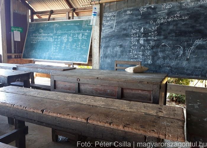 Don Det iskola Laosz 1