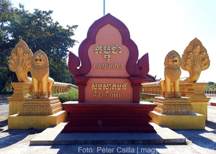 Kambodzsa határ szárazföld