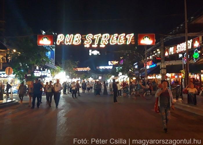 Kambodzsa Siem Reap Pub Street